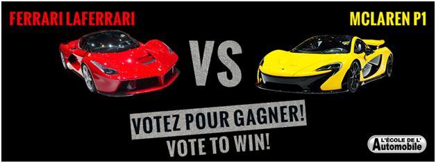 Concours: votez pour votre voiture favorite!
