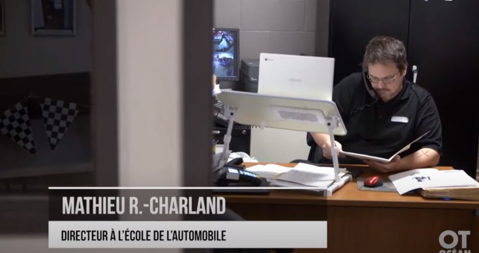 Faites la connaissance de Mathieu R.-Charland, directeur de L'École de L'Automobile
