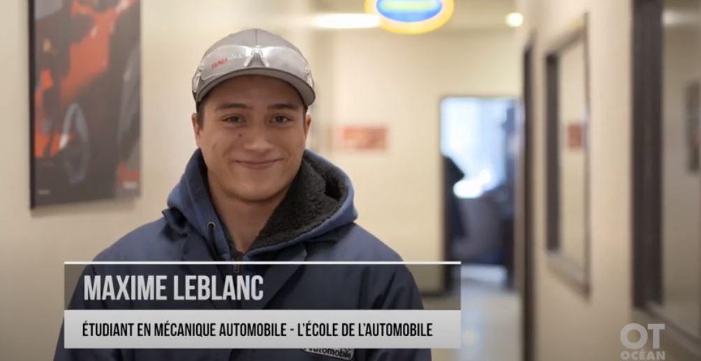 Découvrez le quotidien et les ambitions de Maxime Leblanc, étudiants en mécanique automobile
